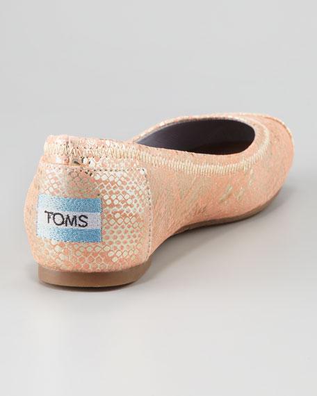 Rainer Snake-Print Ballerina Flat