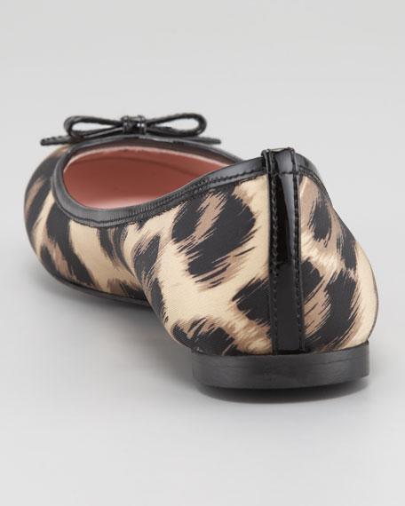 Leopard-Print Ballerina Flat