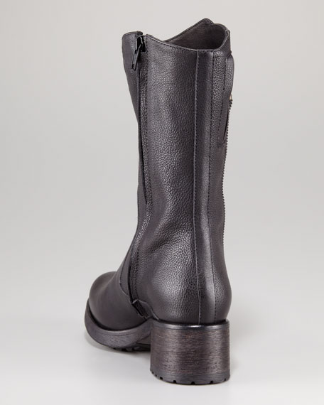 Evie Zip Detail Motorcycle Boot