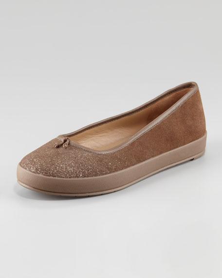 Sneaker-Bottom Ballerina Flat