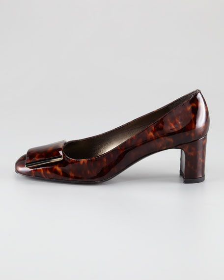 Edges Patent Low-Heel Pump