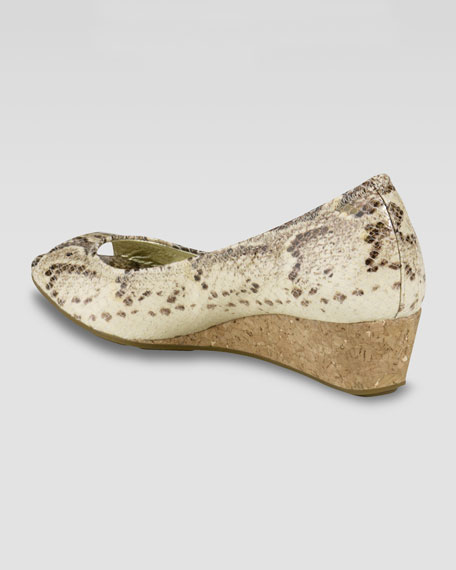 Air Tali Snake-Print Wedge