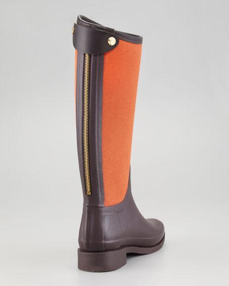 Bessy Bi-Fabric Back-Zip Rain Boot
