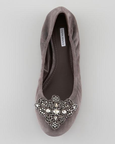 Loriana Crystal-Toe Ballerina Flat
