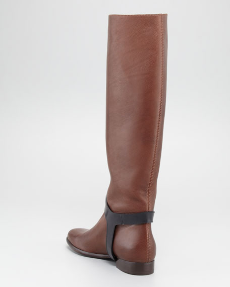 Two-Tone Harness Riding Boot