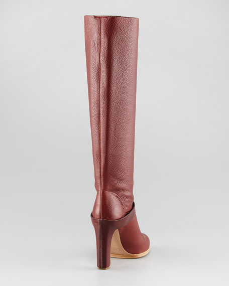 Tall Smooth-Strap Boot