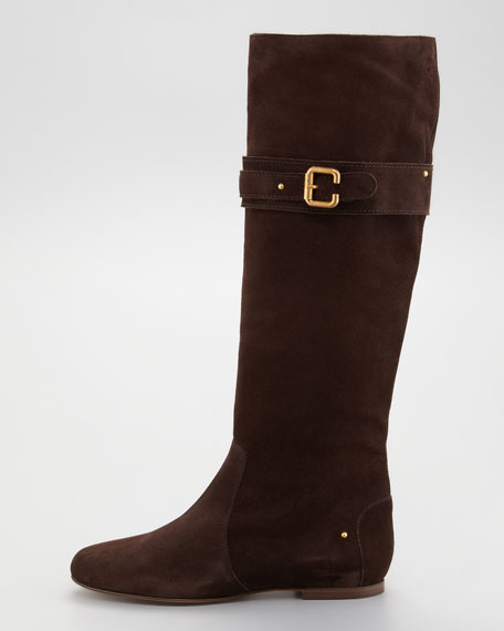 Suede Paddington Knee Boot