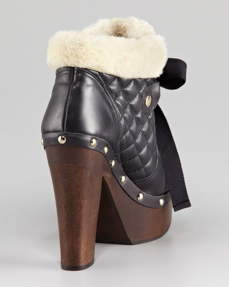 Shearling-Lined Clog Boot