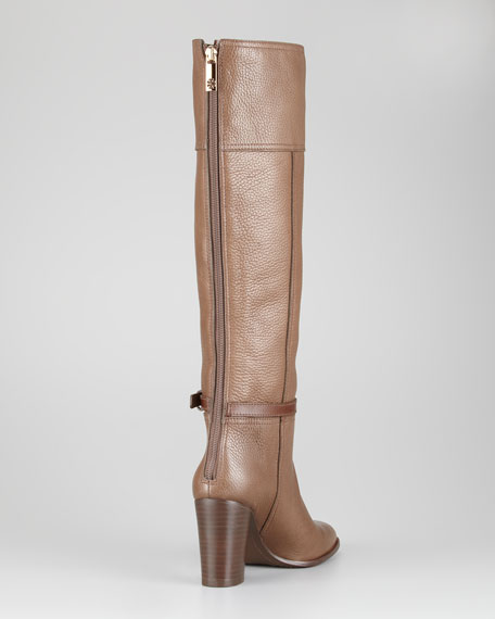 Jenna Tumbled Leather Knee Boot
