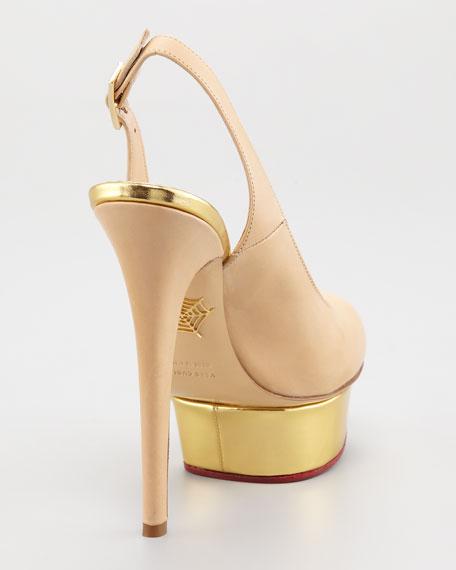 Dolly Slingback Island-Platform Sandal