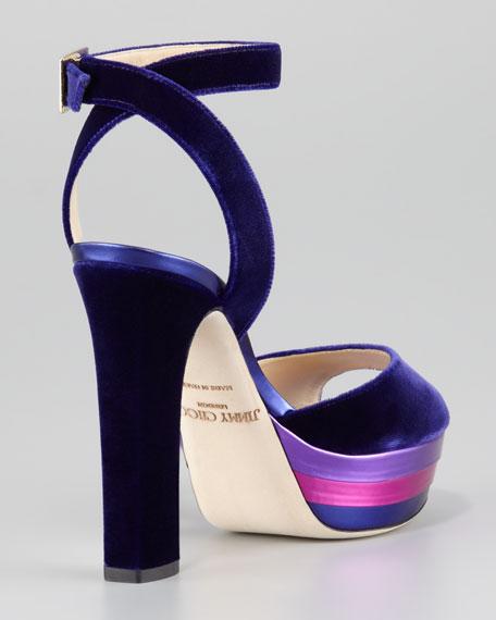 Levir Velvet Ankle-Strap Sandal