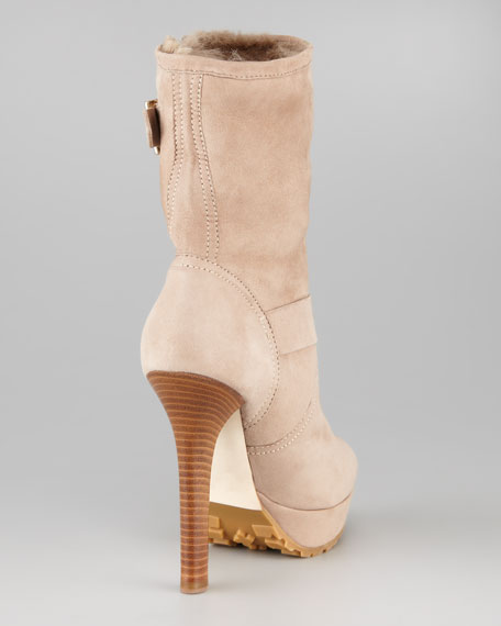 Dylan Rabbit-Lined Suede Boot