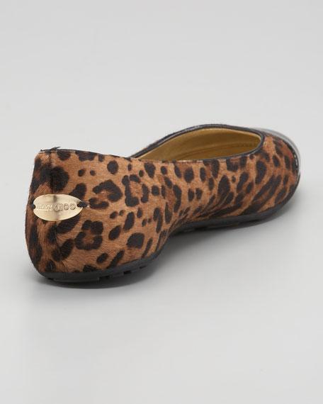 Whirl Leopard-Print Ballerina
