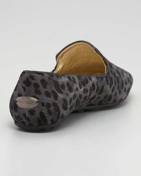 Wheel Leopard-Print Smoking Slipper