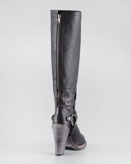 Kenya Harness Leather Knee Boot