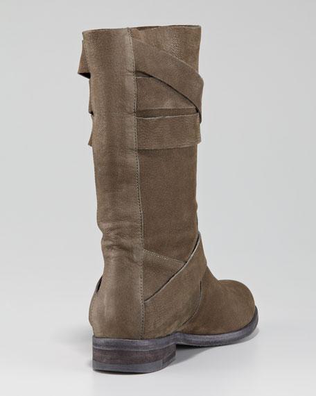 Strappy Mid-Calf Boot