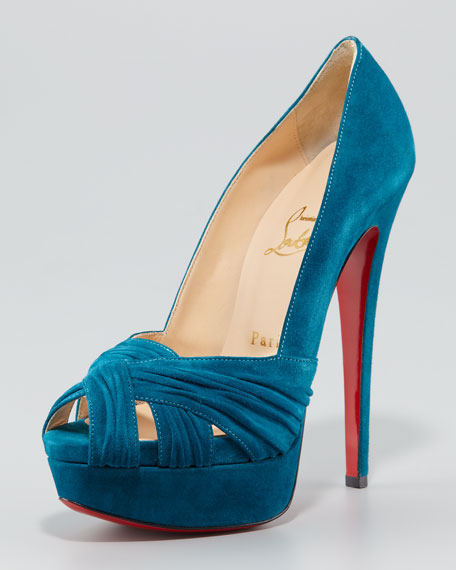 Aborina Twist-Front Red Sole Pump