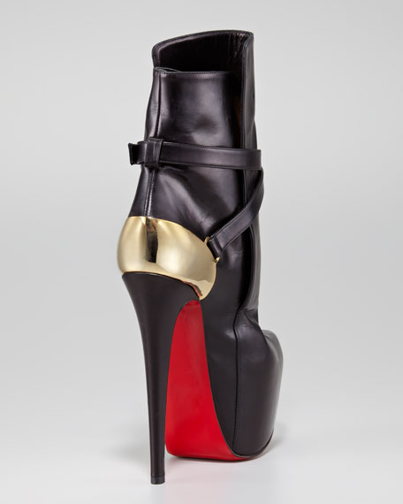 Equestria Heel-Plate Red Sole Bootie