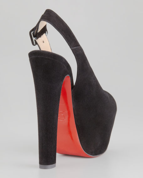 Tartarina Hidden-Platform Red Sole Pump