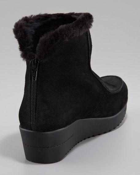 Faux Fur-Trimmed Bootie