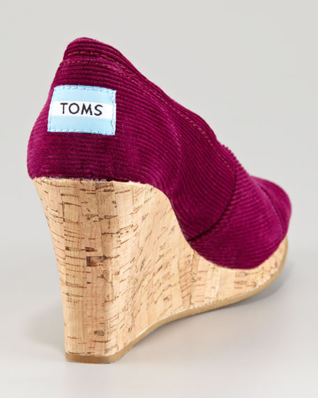 Corduroy Cork Wedge