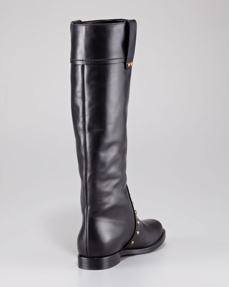 Studded Leather Tall Boot