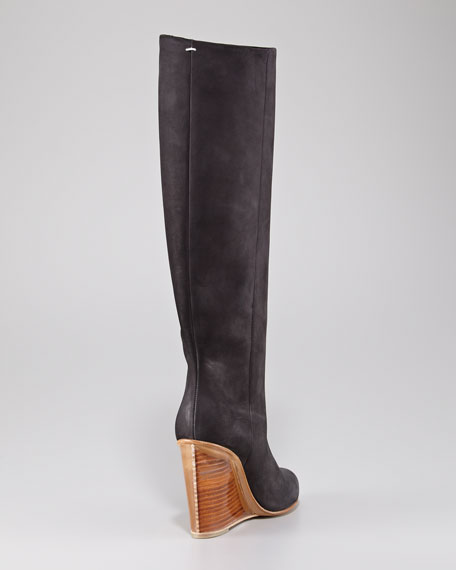 Plexi-Wedge Tall Boot