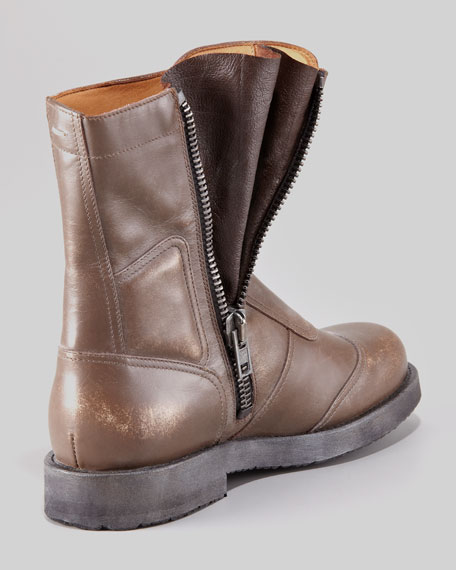 Limited-Edition Leather Biker Boot