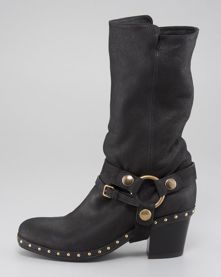 Studded Harness Boot