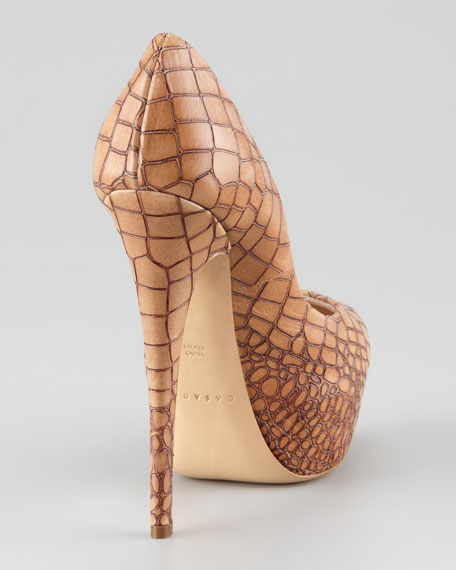 Alligator-Embossed Platform Pump