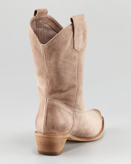 Suede Pull-On Short Boot