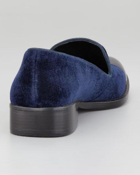 Cap-Toe Velvet Loafer