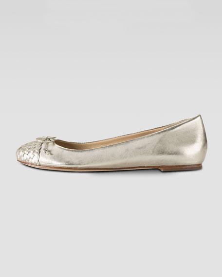 Air Olivia Woven Cap-Toe Ballerina Flat