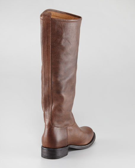 Pepino Leather Western Boot, Chocolate