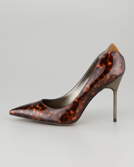 Danielle Tortoisehell Patent Leather Pump
