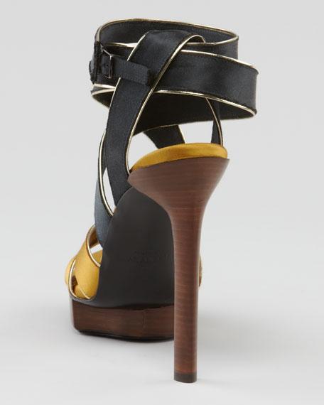Crisscross Satin Sandal