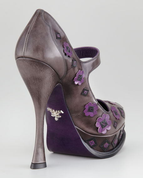 Flower Ankle-Strap Pump
