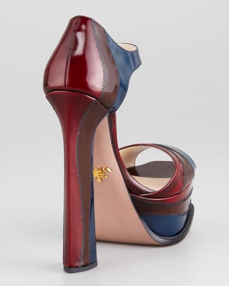 Colorblock Spazzolato Leather d'Orsay