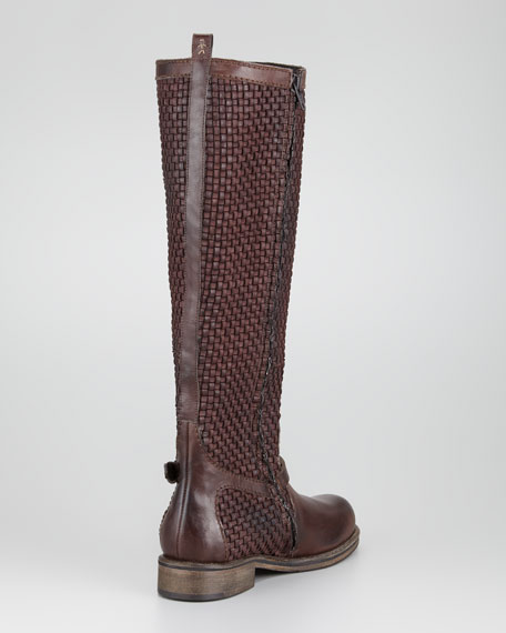Woven Knee-High Boot