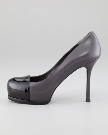Capped-Toe Tribtoo Pump