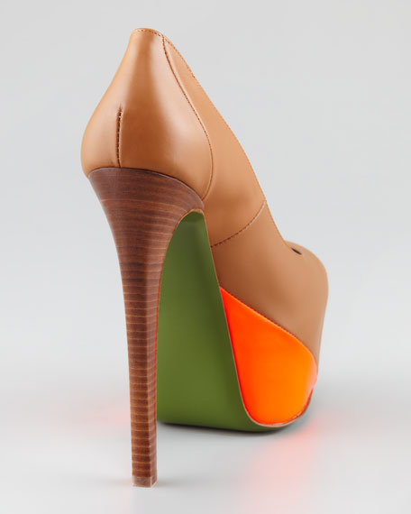 Hamel Leather Neon Platform Pump
