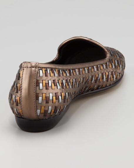 Nairi Woven Metallic Smoking Slipper