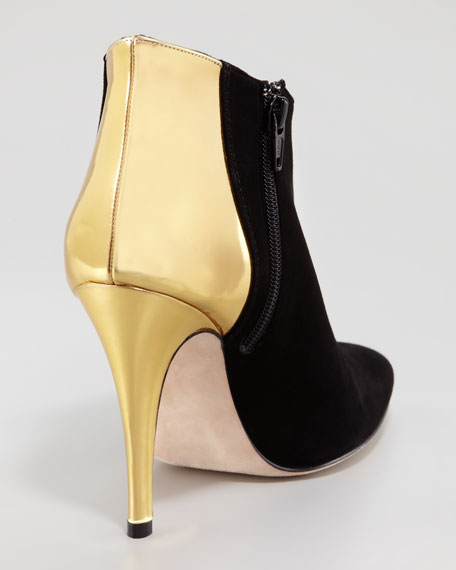 Maleeba Metallic-Heeled Bootie