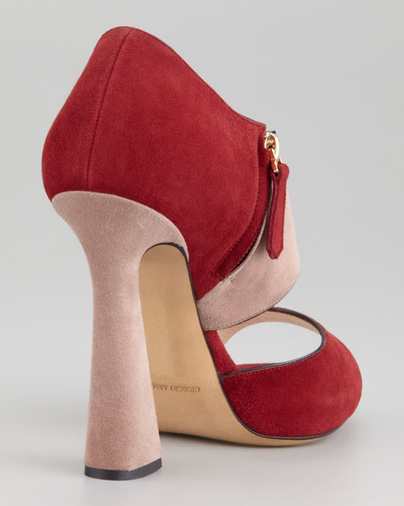 Colorblock Suede Pump