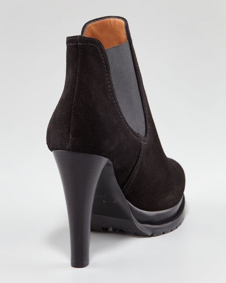 Gored Suede Bootie