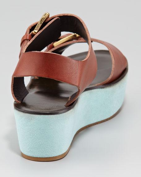 Caltha Flatform Sandal, Cognac
