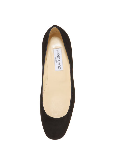 Square-Toe Flat, Black