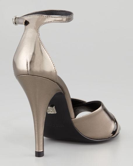 Kalinda Mirrored Leather Sandal