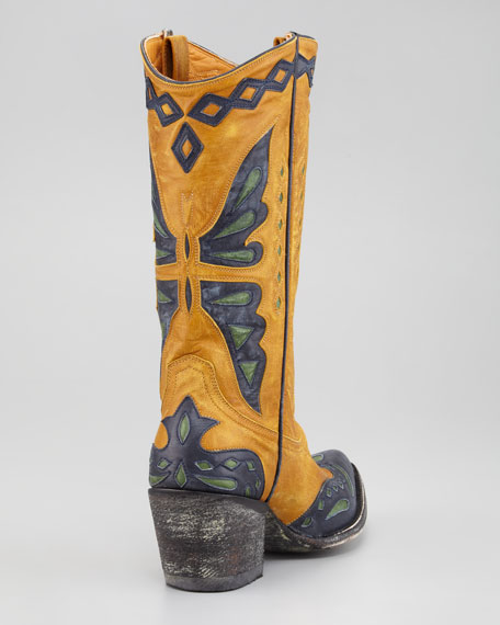 Monarcha Colorblock Cowboy Boot