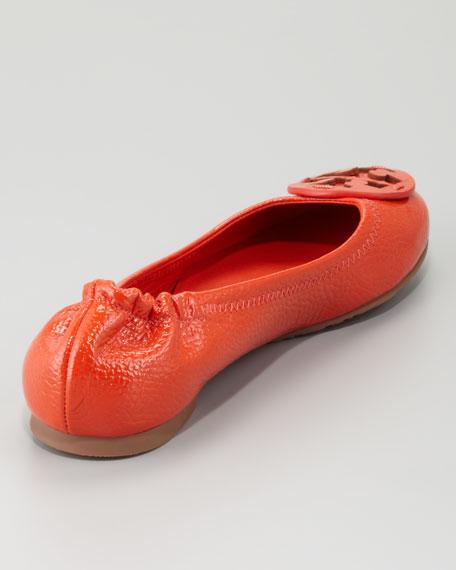Reva Tonal Logo Ballerina Flat, Flame Red